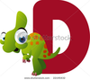 Stock Vector Vector Alphabet D Is For Dinosaur Image