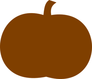Dark Orange Pumpkin Clip Art