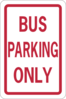Bus Parking Only Clip Art
