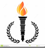 Olympic Torch Clipart Image