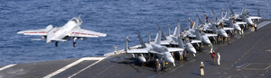 An Ea-6b Launches From Uss Harry S. Truman. Image