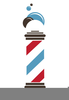 Free Barbershop Pole Clipart Image
