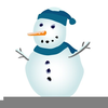 Snowman Melting Clipart Image