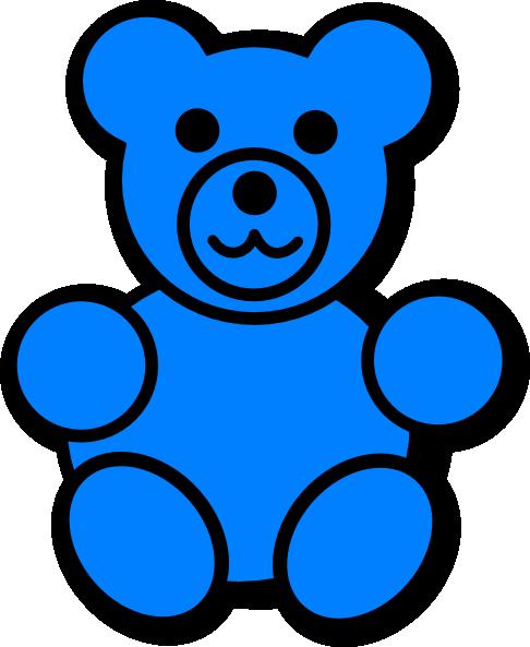 blue bear clip art at clker com vector clip art online royalty rh clker com gummy bear clip art free gummy bear clipart