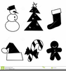 Gingerbread Black And White Clipart Image