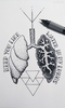 Lung Outline Tattoo Image