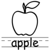 Black And White Clipart Picture Of An Apple Image
