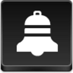 Free Black Button Christmas Bell Image