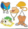Boots And Saddle Clipart Image