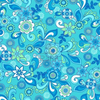 Funky Floral Seamless Repeat Pattern Vector Illustration Image