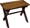 Collapsible Wooden Table Clip Art