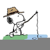 Gone Fishing Cartoon Clipart Image