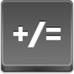 Free Grey Button Icons Math Image