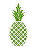 Hospitality Pineapple Green Pineapple Cropped Image