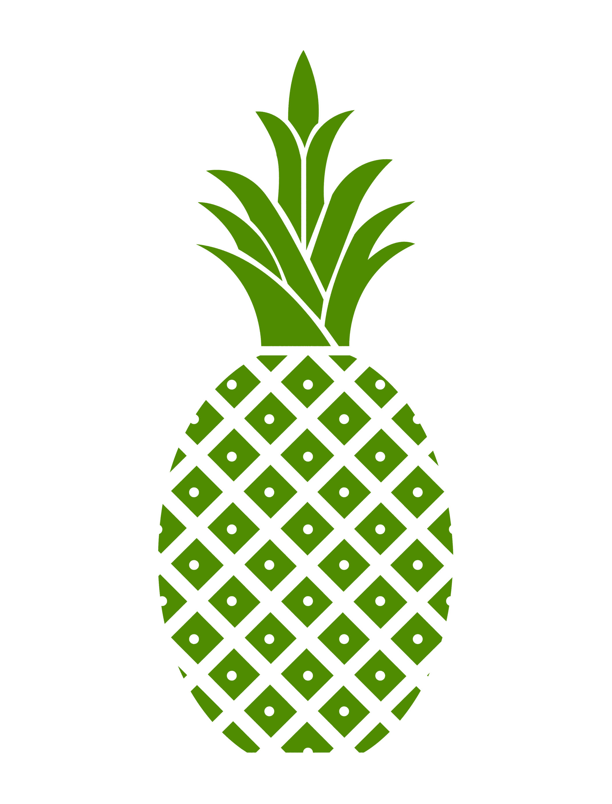 Hospitality Pineapple Green Pineapple Cropped | Free ...