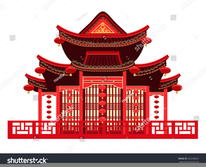 Traditional China House Clipart Image