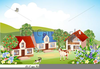 Rural Community Clipart Image