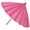 Hot Pink Paper Umbrella Image