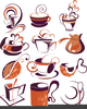 Clipart Of Flowers And Coffee Image