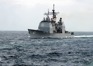 The Shiloh Steams Forth In The Ocean As Part Of The Uss Abraham Lincoln Battle Group. Image