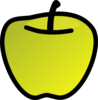 Green Apple 2 Clip Art