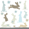 Easter Primitive Clipart Image