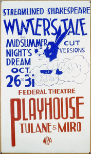 Streamlined Shakespeare - Winter S Tale And Midsummer Night S Dream Cut Versions : Federal Theatre Playhouse, Tulane & Miro. Image