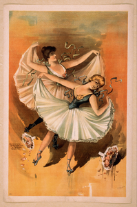 [two Ballerinas, Blond Woman In Front With Brunette Woman Behind] Image