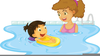 Kid Swimming Clipart Image