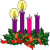 Catholic Advent Wreath Clipart Image