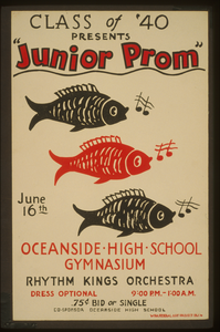 Class Of  40 Presents  Junior Prom  Oceanside High School Gymnasium : Rhythm Kings Orchestra. Image