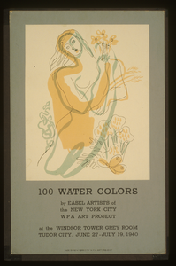 100 Water Colors By Easel Artists Of The New York City Wpa Art Project Image