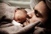 Baby And Dad Sleeping Image