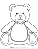 Teddy Bear Black And White Clipart Image