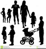 Black Family Reunion Clipart Image