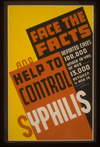 Face The Facts And Help To Control Syphilis Reported Cases 100,000 Under 19 Yrs. Of Age ... 13,000 Between 11 And 15. Image