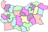 Administrative Map Of Bulgaria Clip Art