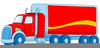 Red Lorry Clipart Image