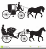 Horse And Carriages Clipart Image
