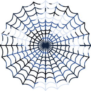 Blue Camouflage Spiders Web Image