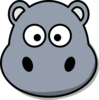 Hippo Head No Mouth Clip Art