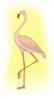 Flamingo With Light Clip Art