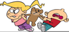 Clipart Children Pushing Each Other Image