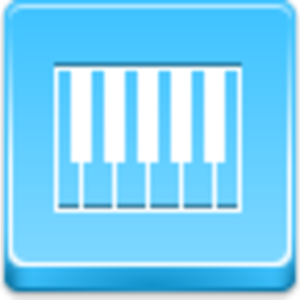 Free Blue Button Icons Piano Image