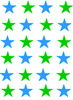 Blue Green Stars Happy Image