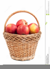 Free Apple Basket Clipart Image