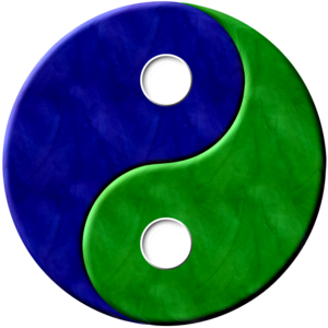 Yinyang Bluegreentextured Image