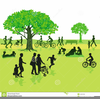 Walking In The Park Clipart Image