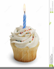 First Birthday Cupcake Clipart Image