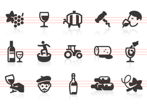 0020 Wine And Vineyard Icons Image
